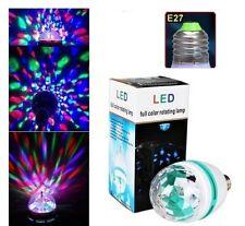 E27 Crystal Ball Stage Light RGB LED Auto Rotating Lamp Decor Party Disco DJ Bar