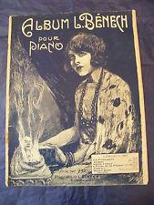 Partition Album L Bénech pour Piano 1923 Music Sheet Grand Format