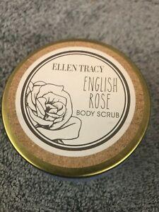 Ellen Tracy English Rose Body Scrub Jar 3.7 oz RARE