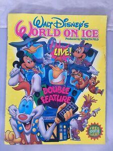 1991 Walt Disney's World On Ice Double Feature Souvenir Program