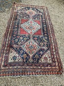ANTIQUE VERY OLD TRADITIONAL TURKISH RUG CARPET FROM COUNTRY HOUSE CLEARANCE
