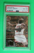 Graded Michael Jordan  1995-96  Fleer  Metal #13  PSA 8 Mint Slab Bulls Card