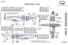 Berna Decals 1/48 French DEWOITINE D.520 WWII Fighter