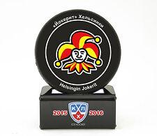 KHL Official Hockey Puck with holder Jokerit Helsinki