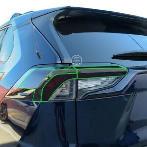 Fits 2019-2021 Toyota Rav4 Tail Light Overlay Tint Cover Dark Smoked