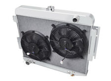 "1966-1969 Dodge Charger Aluminum 3 Row Champion Radiator & 2-12"" Fans"