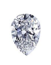 Certificate 0.80ct Pear Shape Excellent Ideal Cut Diamond H Color I1 Clarity