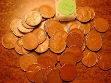 1939-S LINCOLN WHEAT CENT PENNY ROLL, HIGH GRADE!! VF-XF!!!!!