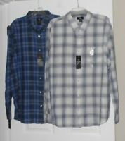 Calvin Klein Lifestyle Long Sleeve Button Down Shirt 2 colors Size XXL NWT