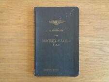 Bentley 4 1/4 Litre Owners Handbook/Manual (Condensed Edition)