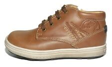 GBB Boys Nino Brown Leather Lace & Zip Shoes UK 9 EU 27 US 9.5
