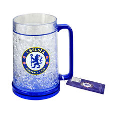 CHELSEA FC FREEZER MUG TANKARD ICE COLD BEER DRINKING GLASS NEW XMAS GIFT