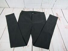 Womens Bossini Skinny Pant Stretch Dark Gray In Color Size L Inseam 29 A2