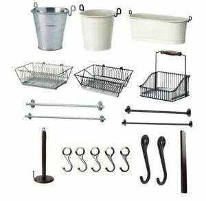 IKEA FINTORP Home Kitchen & Bathroom Accessories Rail Hooks Drainer FAST POST