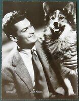 French Film Actor Jean Marais w His Dog - vintage photograph