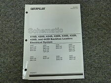 Caterpillar Cat 416D 420D 424D 428D Backhoe Electrical Schematic Diagram Manual