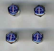 Mustang Club 4 Chrome Plated Brass Tire Valve Caps Car/Bike/Golf Carts Mustang