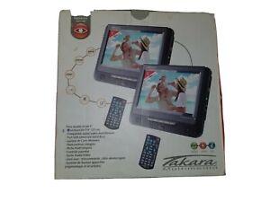 """2 X 7 """" HD Voiture Moniteur Numérique Vidéo Appui-Tête Lecteur DVD HDMI Jeu USB"""