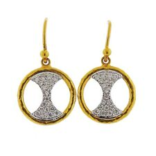 Gurhan Tuxedo 24k 18k Gold Diamond Drop Earrings $3600