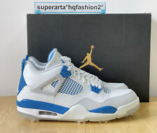 Nike Air Jordan 4 Millitary Blue Golf Trainers/ Sneakers Size UK 9.5