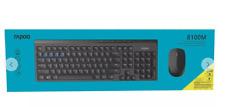 Rapoo 8100M Multi-Mode Wireless Mouse and Keyboard Desk set Black
