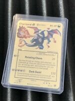 Pokemon Charizard Gold Star Metal Custom Fantasy Card