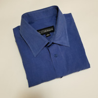 Lineage Men's Blue Long Sleeve Dress Shirt | Size 15 32/33