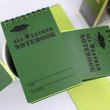 2x Portable All Weather Waterproof Notepad Tactical Notebook 12.5*7.5CM Outdoor