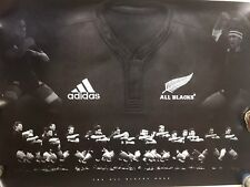 PRINT POSTER HAKA ALL BLACKS NEW ZEALAND 2007 RUGBY OFFICIAL ADIDAS 594 x 840 mm