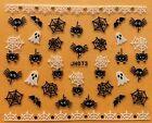 Nail Art 3D Decal Stickers Halloween Ghost Spider Web Bat JH073