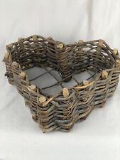 Heart Shaped Wicker/Rattan Basket