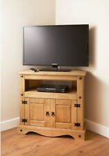 SB19 100% Solid Pine Rio Corner Media Unit Flat Packed For Easy Home Assembly.