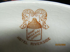 3 Vint Hotel Riverside Cambridge Springs, Pa Dishes Saucer, 2 Veg Bowls Logo