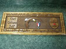 Custom carved Eagle scout award