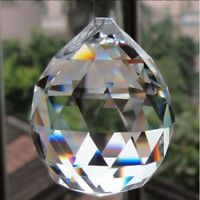 Handmade Cut Faceted Glass Prism Crystal Diamond Light Ball Natural Stone Balls