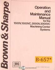 Brown & Sharpe 1500V, 1500VC 2000V 2000VC, Operations Programming Maint Manual