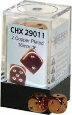 Chessex Dice d6 Set 16mm Copper Plated 2 Die Six Sided CHX 29011