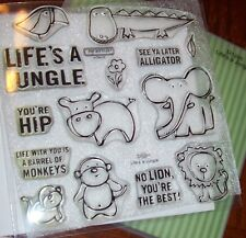 CTMH D1285 LIFE'S A JUNGLE ~ LION,MONKEY,GATER,HIPPO,ELEPHANT