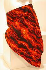 Red Flames Recreational Fleece Lined Bandana motorcycle face mask protector