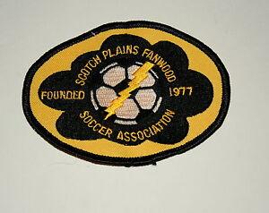 2 Soccer Assoc Team Club Scotch Plains Fanwood New Jersey Patch New NOS 1997