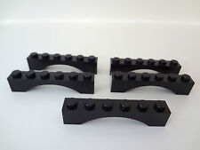 LEGO Black Arch Brick 1 X 1 X 5,  Lot of Five as Shown