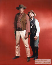 "James Arness Private Collection Gunsmoke ""Matt & Festus""   8 x 10 Color Photo"
