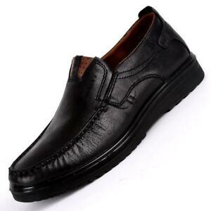 Men New Leather Shoes Soft Sole Leisure Driving Antislip Loafers Casual Chic