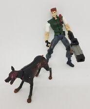 Resident Evil Chris Redfield w/ Cerberus Figure Capcom Toybiz 44131 1998