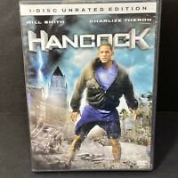 Hancock (DVD, 2008, Unrated Single Disc) Will Smith, Jason Bateman