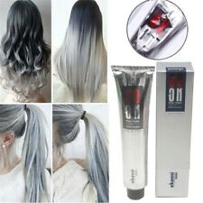 Light Grey Silver Permanent Hair Dye Color Cream Girls Beauty Hair Style Colors