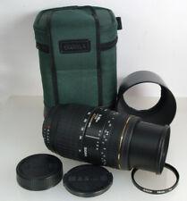 Nikon AF Sigma 70-300mm F4-5.6D APO Macro Super Zoom Lens, Caps, Hood, Superb