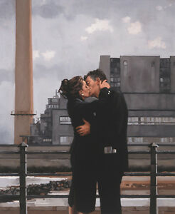 Jack Vettriano greeting card - Long TIme Gone