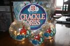 Nautical Starfish Set of 3 Hand Painted Crackle Orbs LED Illuminated Light Up