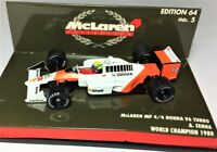 MODEL Car Senna #12 McLaren MP4/4 World Champion 1988 Formula One F1 1:64 Scale